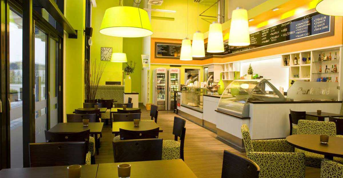 caf einrichtungen beispiele gastronomie design. Black Bedroom Furniture Sets. Home Design Ideas